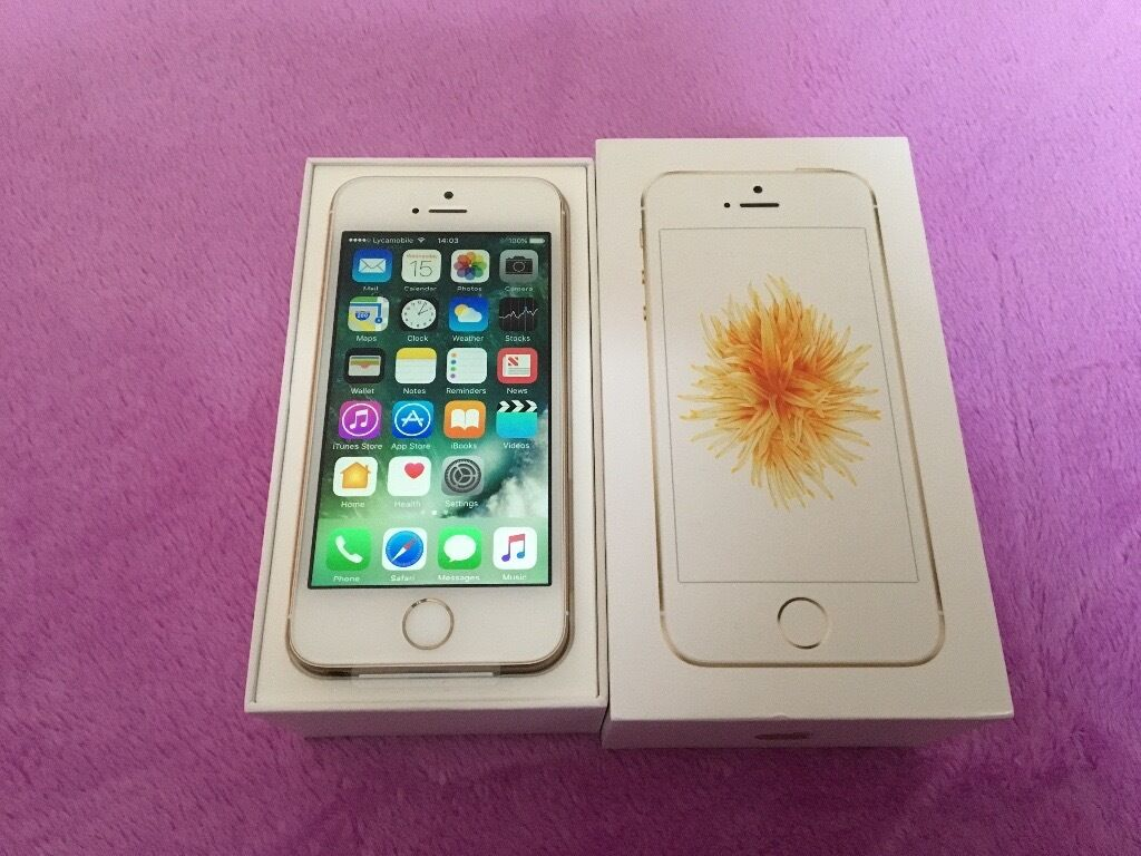 Apple iPhone SE Gold brand new in box with all accessories and Apple warranty with it for salein Loughborough, LeicestershireGumtree - Apple iPhone SE Gold brand new in box with all accessories and Apple warranty with it for sale iPhone SE 16GB Gold colour brand new in box with everything and all accessories and manual It has one year Apple warranty with it Its on T Mobile, Orange,...