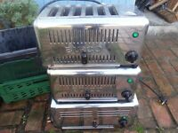 3 stainless steel Burco 6 slot commercial cafe restaurant toaster large family spares or repair