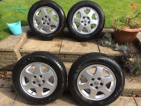 4 Michelin Winter tyres on Vauxhall Alloy Rims