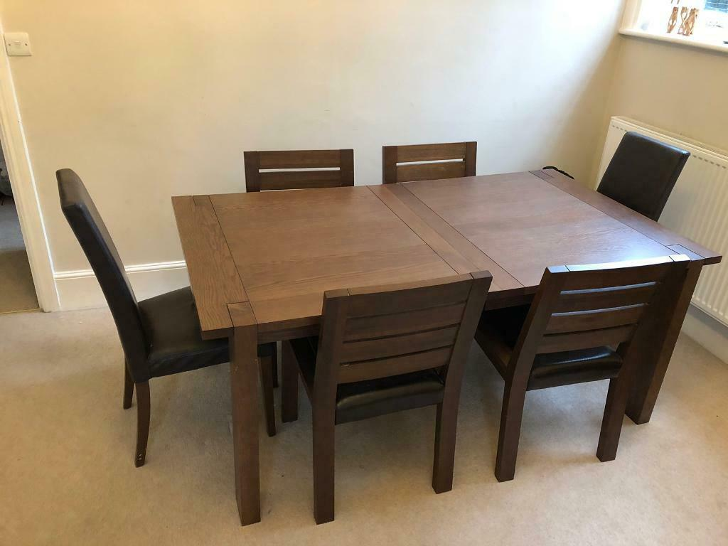 Marks Spencer Sonoma Dark Oak Extending Dining Table And 6 Chairs In Bromley London Gumtree