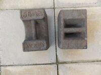 2 x Avery 56lb Weights, used for sale  Sheffield, South Yorkshire