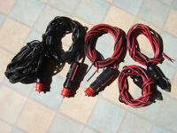 Five plugs (leaded) for cigar lighter socket