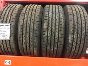 TRAX 0647 ) 4-NEW TAKEOFF 215/60R17 MICHELIN DEFENDER ALL SEASON TIRES $400 set