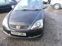 HONDA CIVIC 2.0 i-VTEC Type-R 3dr RECENT TYRES EXHAUST AND CLUTCH A GOOD ONE (black) 2004
