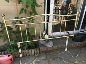 5ft headboard brass colour