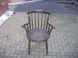 2 Captains Chairs very old, one arm needs a slight repair