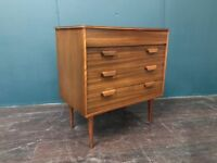 Chest of Drawers by Gunther Hoffstead for Uniflex. Retro Vintage Mid Century