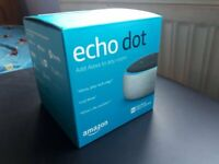 amazon Echo Dot (3rd Gen): Sealed brand new, gray