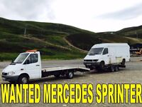 WANTED!!! MERCEDES SPRINTER 310D - 312D - 412D - ANY YEAR