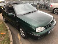 Volkswagen Golf convertible 1.6 petrol manual 96k miles fsh mot June 2018