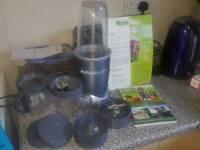 Nutribullet 600w, accessories & recipe books