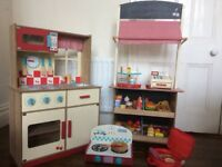 Children's Wooden Shop and Kitchen