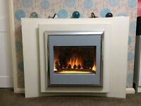 Reduced price Flamerite Lucca Electric Fire Suite with flame effect - can be floor or wall mounted