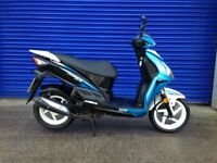 LATE REGISTERED 2014 SYM JET 4 50cc SPORTS MOPED , HPI CLEAR , 12 MONTHS MOT VERY LOW MILES