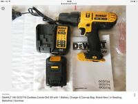 Dewalt 18v cordless combi hammer drill with Li-ion battery, charger & case. Brand New Plymouth