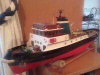 1mtr long rc tug boat