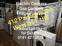 NEW ELECTRICAL APPLIANCES • COOKERS, FRIDGE/FREEZERS, WASHING MACHINES