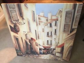 French scene Canvas