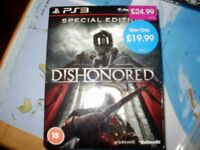 PS3 special edition Dishonored with Tarot deck