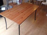 Oak Kitchen Table plus four chairs