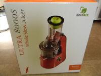 JR Ultra 8000 S Whole Fruit Masticating Slow Juicer, Smoothie Maker/ White