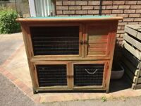 2 Tier Rabbit or Guinea pig hutch / run!