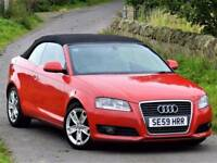 2009 AUDI A3 1.6 TDI SPORT CABRIOLET CONVERTIBLE 104 BHP -65 MPG -£30 ROAD TAX- 6 MONTHS WARRANTY