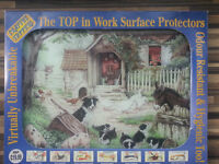 Craftee Toppers Work Surface Protector from Creative Tops Dog Animal Farm Vintage