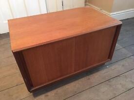 70's teak sliding door tv cabinet (possibly G-Plan)