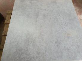 Clearance Grey Matt Porcelain Floor 80x80cm tiles now only £15 per sqm.