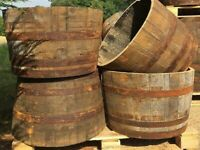 Oak Cut Half Whiskey Barrel