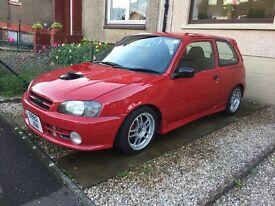 Toyota Starlet Glanza V Turbo £2950