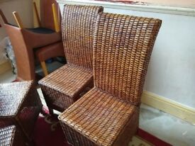 WICKER DINNING CHAIRS