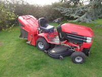 """Ride on lawnmower Westwood t1800 18hp 48"""" cut with sweeper & collector serviced."""