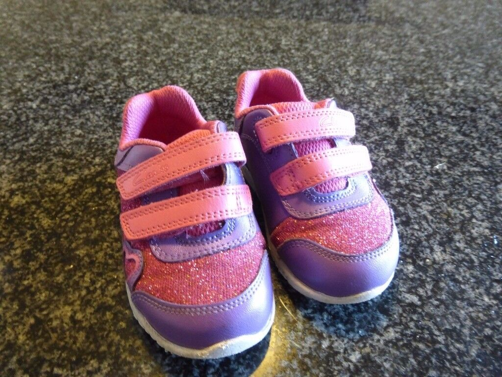 Clark's sparkly child's trainers