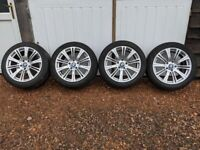 Winter Tyres & Rims, 18ins, BMW 5 Series, Used Set of 4, Alloy wheels, 245/45 R18