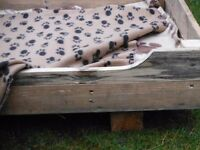 Rustic pallet Dog Beds
