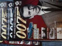 4 James Bond car collection MAGAZINES