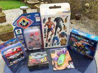 NEW Vintage Toys inc. ReBoot, Magnetix, Knex, Action Man, Jonny Quest, 0ld Timer
