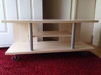Reduced to £20! Portable wooden pine tv table for sale