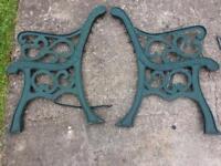 Vintage Cast Iron Garden Bench Ends