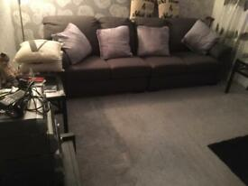 Very nice big sofa only six months old £250