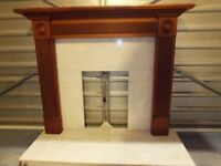 Solin Marble and Mahogany fire surround in very good condition