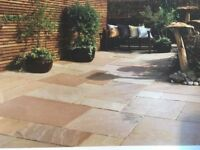 New Bradstone Natural Sandstone patio slabs. 2 + pallets available