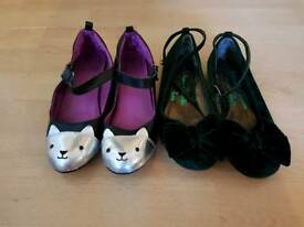 Girls party shoes size 2