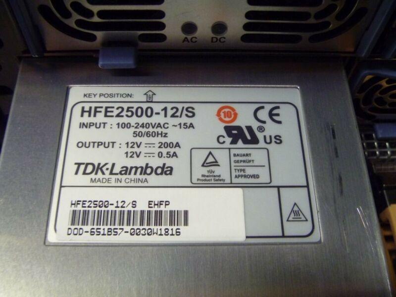 TDK/LAMBDA HFE2500-12/S 12V 200A 2400 watt Power Supply (12 volt, 200 amp)