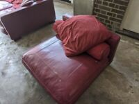 3 Seater Leather Sofa And Matching Chair, Free , Collection Only