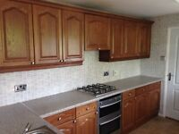 Kitchen Solid Wood with Worktop and SS sink/taps