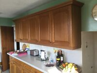 Whole kitchen ....units for sale with sink & draining board & cooker & integral fridge