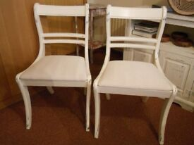 Shabby Chic Vintage Dining Chairs